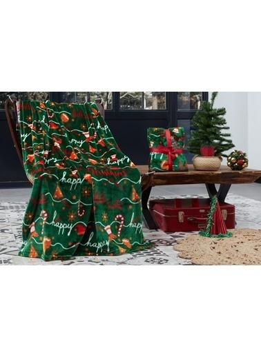 Dolce Bonita Wellsoft 3D Tv Battaniye Holly Santa Yeşil